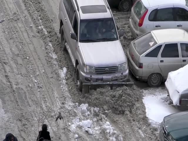 Самарский автомобилист не стал ждать коммунальщиков