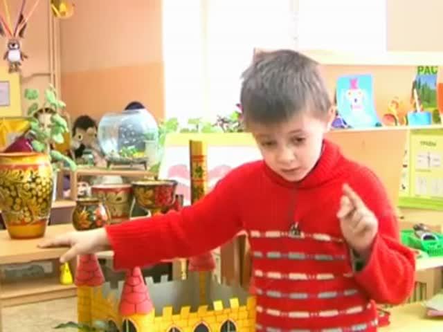 Ребенок дает интервью