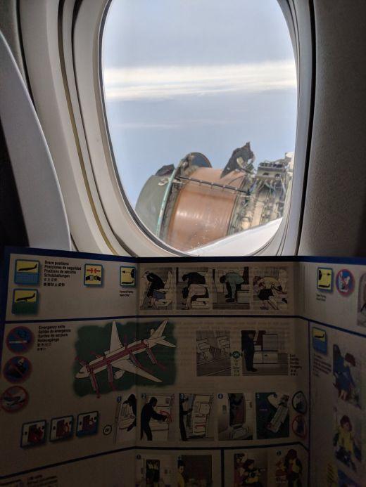 Самолет с поломкой перелетел океан (4 фото + видео)