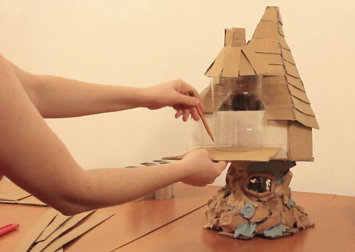 Декоративный домик за 3$ собственными руками (18 фото)