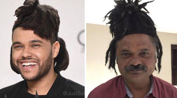 Индийский мужчина воссоздает фото знаменитостей (12 фото)