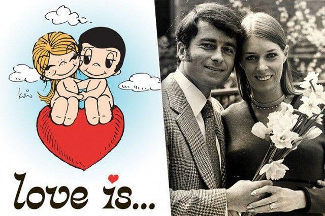 """История появления комиксов """"Love is..."""" и жизненный путь их создателей (9 фото)"""