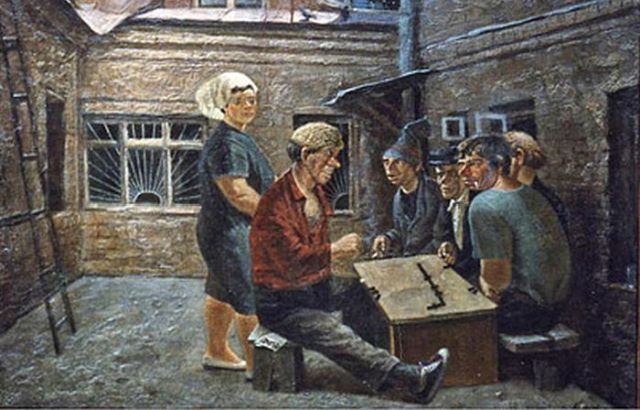Советский быт глазами художника Василия Колотева (22 рисунка)
