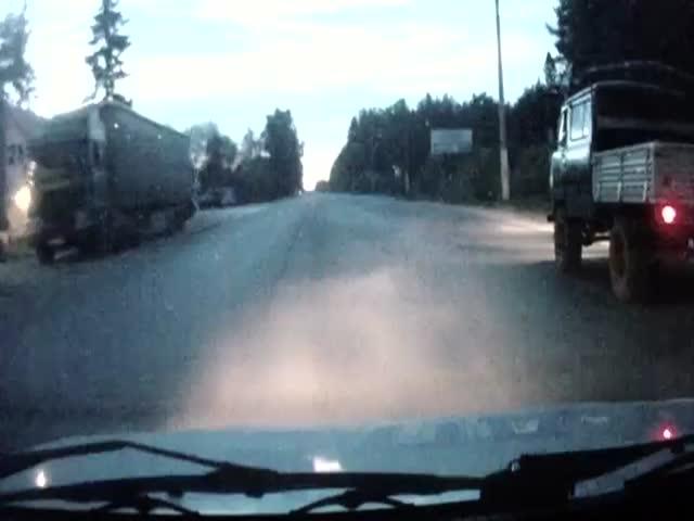 Полиция не смогла догнать старенький УАЗ-ик