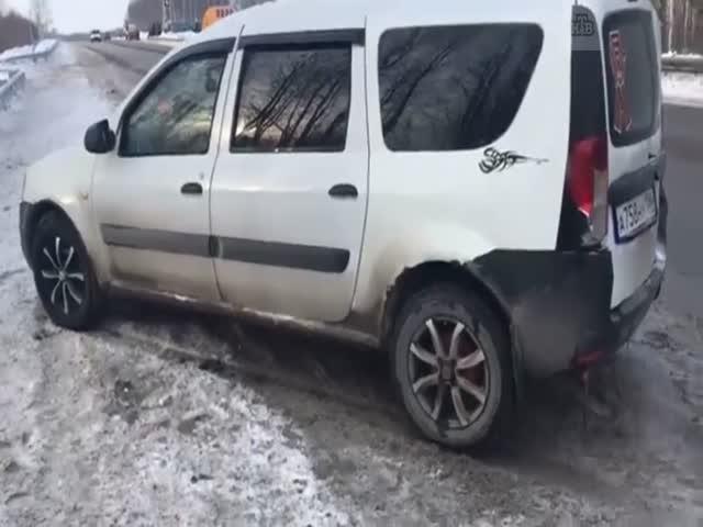 Реакция спасла водителей от разрушительной аварии