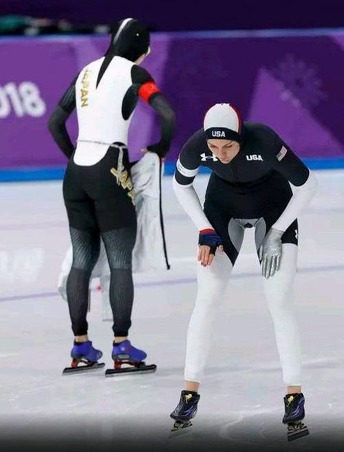 Раскрыта тайна экипировки конькобежцев из США (4 фото)