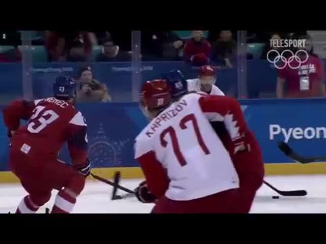 Сборная России по хоккею вышла в финал Олимпийских игр, одержав историческую победу