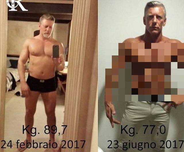 Помолодевший отец: как итальянец изменился благодаря сыну (3 фото)