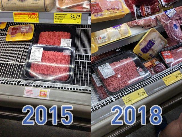 На сколько подорожали продукты питания в США за 3 годa? (23 фото)