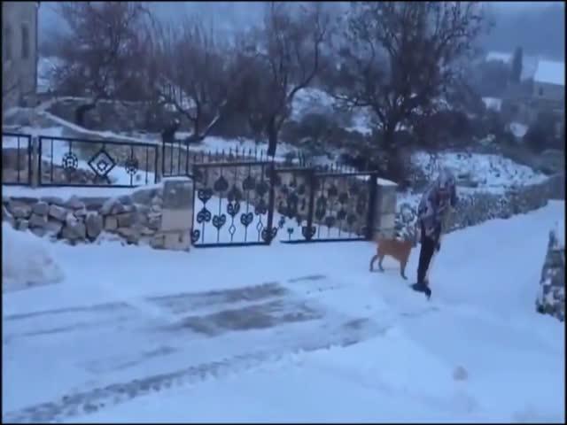 Хорватский способ борьбы со снегом