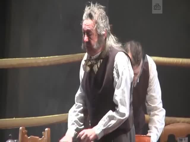 А вот и видео с матерящимся Ефремовым во время спектакля в Самаре