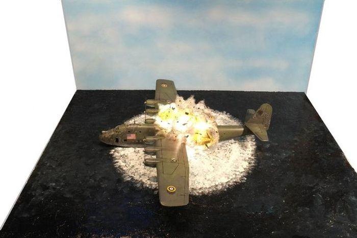 Реалистичная миниатюра «Крушение BV 222» (5 фото)