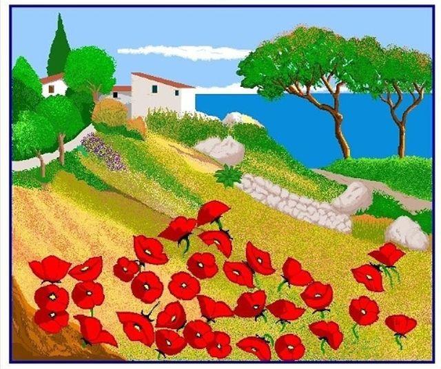 Бабушка создает великолепные пиксельные рисунки в Paint (6 фото)