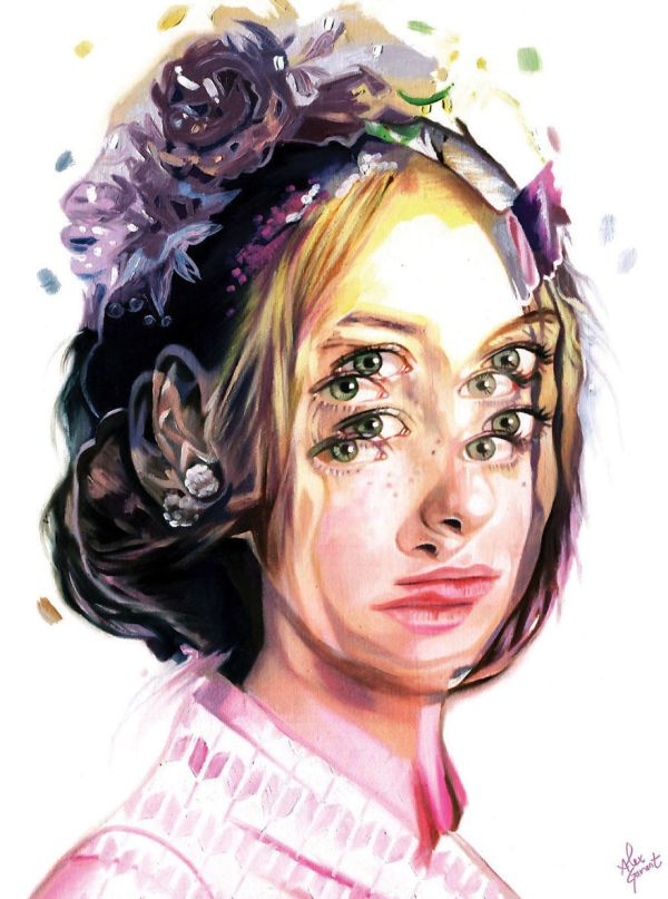 Художница стала рисовать гипнотизирующие картины после сердечного приступа (14 фото)