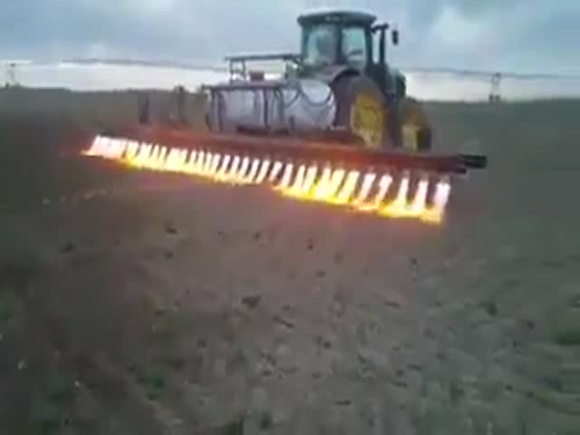 Необычный метод обработки земли в сельском хозяйстве
