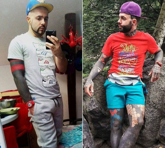 Британец покрыл татуировками 90% кожи (9 фото)