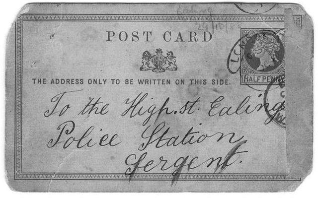 В Великобритании продадут открытку Джека-потрошителя (5 фото)