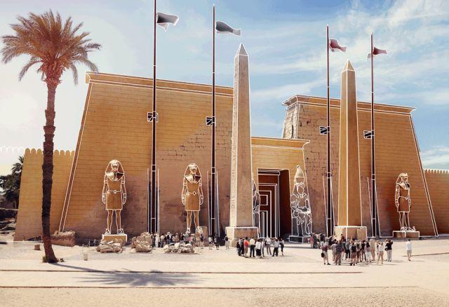 Как выглядели известные памятники древней архитектуры (7 гифок)