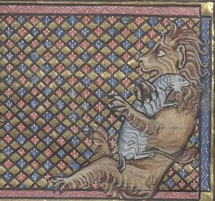Коты на картинах художников средневековья (25 фото)