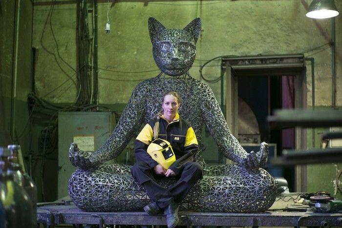 """""""Медитирующий кот Тихвами"""" Александры Ивлевой (7 фото)"""