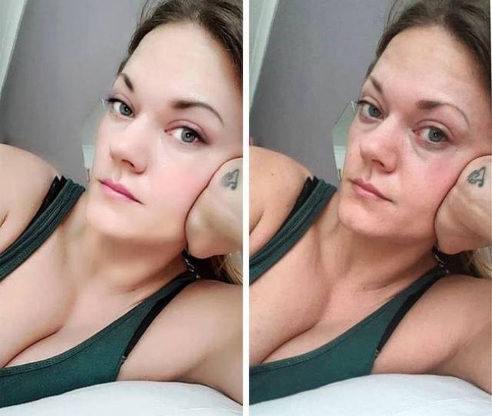 Фото девушек в Instagram и в реальной жизни (10 фото)