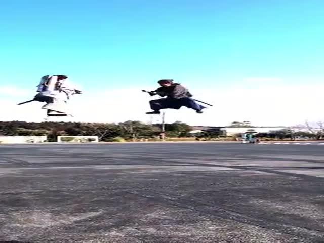 Воздушный бой самураев