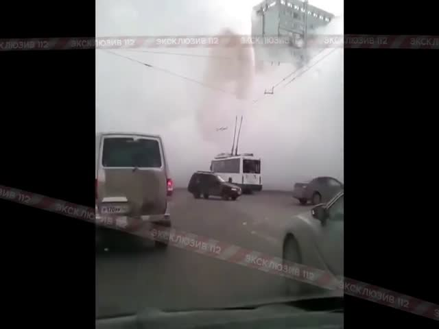 Прорыв трубы с кипятком в Кемерово