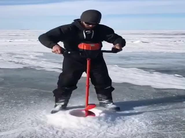 Бур для особо толстого и крепкого льда