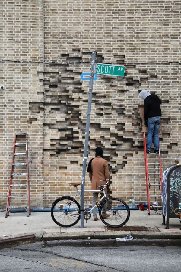 Странный стрит-арт (4 фото)
