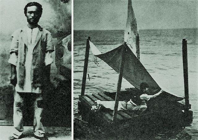 Пань Лянь - китайский моряк, продержавшийся 133 дня в открытом океане на спасательном плоту (3 фото)