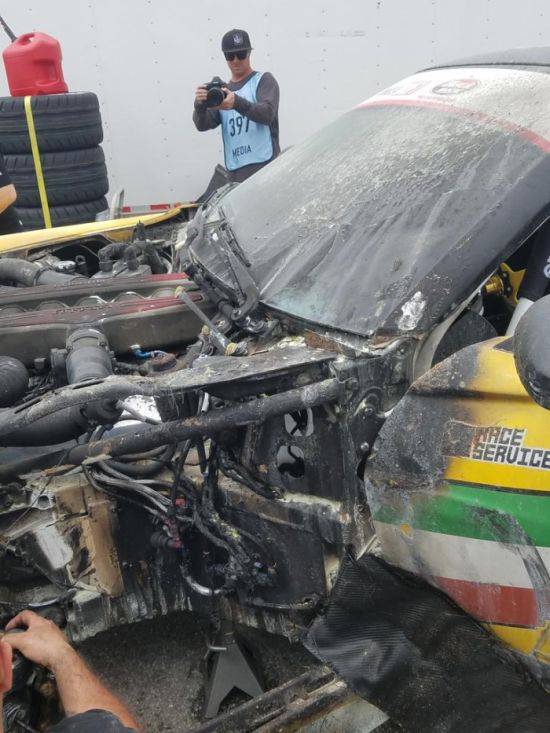 Неудачный дебют Ferrari 599 GTB Fiorano в гонке Formula Drift (6 фото)