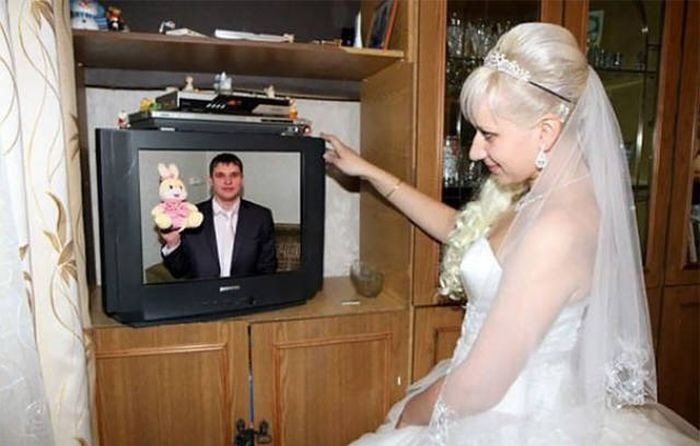 Странные фото с наших свадеб (49 фото)