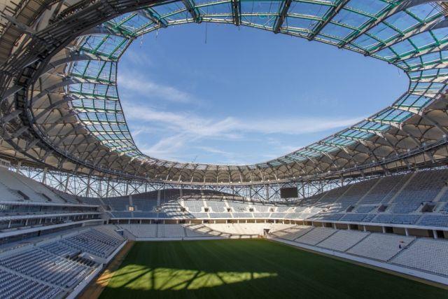 Туалеты на новом стадионе «Волгоград Арена» (2 фото)