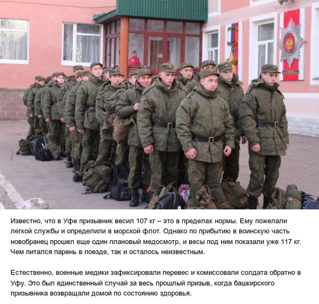 Башкирский призывник набрал 10 кг, добираясь к месту несения службы (2 фото)
