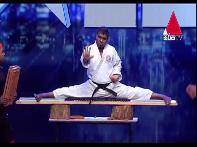 "Каратист на шоу ""Шри-Ланка ищет таланты"""