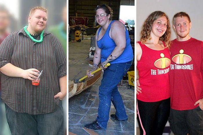 Пары, поборовшие лишний вес (20 фото)