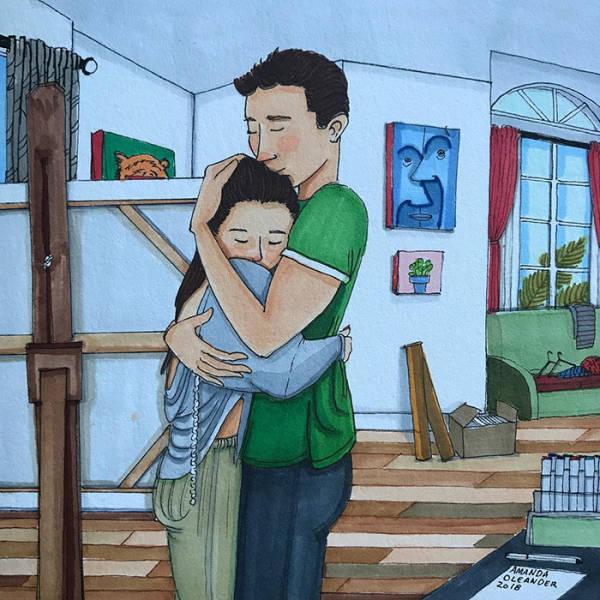 Отношения и супружеская жизнь в рисунках Аманды Олеандер (39 картинок)