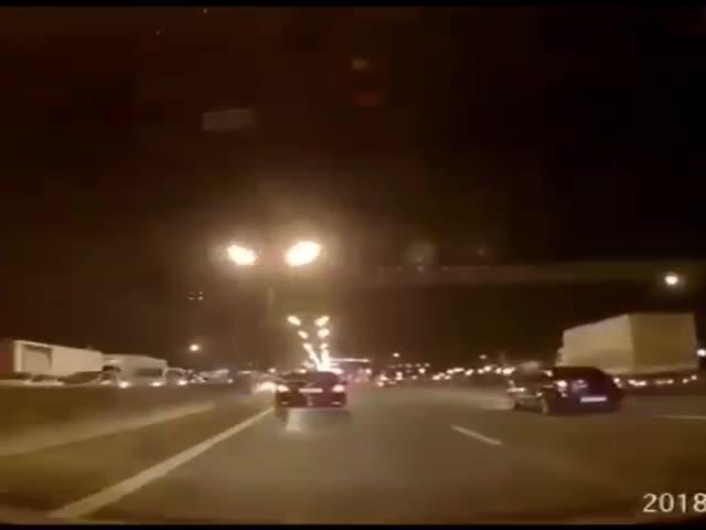 Массовая авария на МКАД