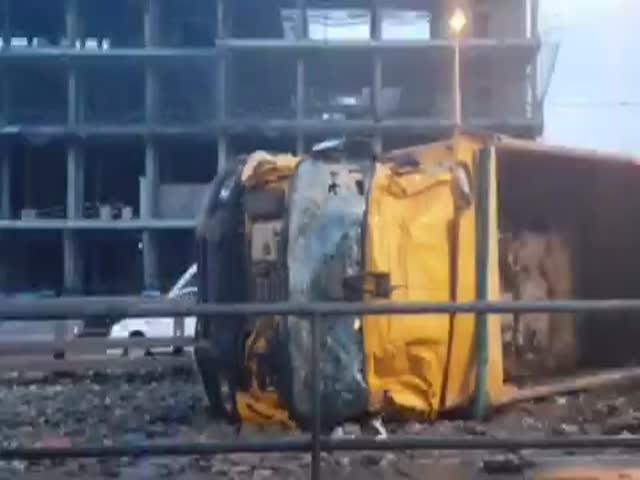 Серьезная авария на Рязанском проспекте в Москве