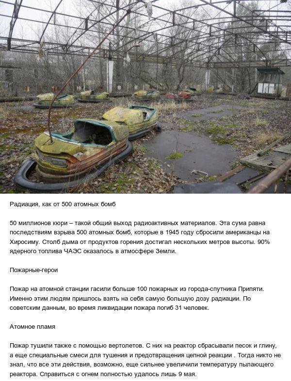 Факты об аварии на Чернобыльской АЭС (5 фото + видео)