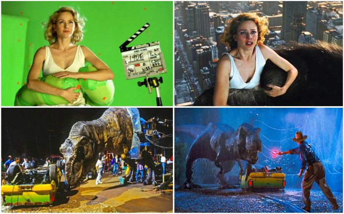 Фото со съемочных площадок культовых фильмов (20 фото)