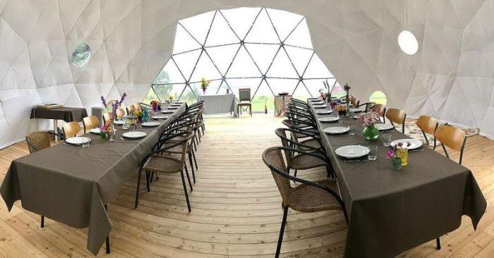 Семья из Норвегии построила эко-дом под стеклянным куполом (23 фото)