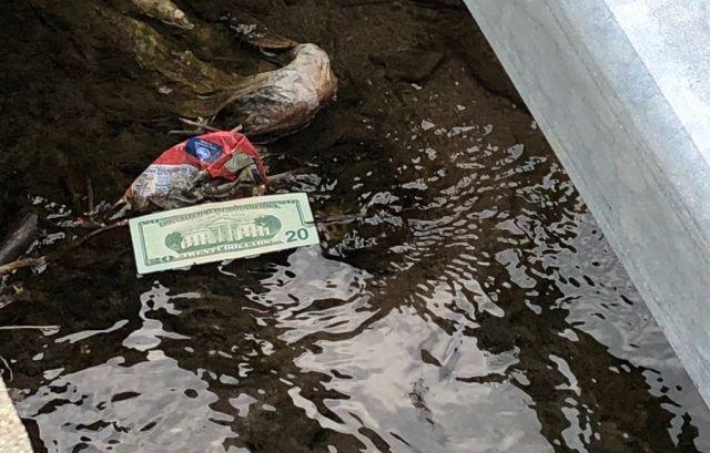 В США из инкассаторского грузовика высыпались 600 000 долларов (3 фото + 2 видео)