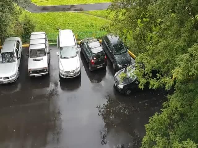 Нестандартный выезд с парковки