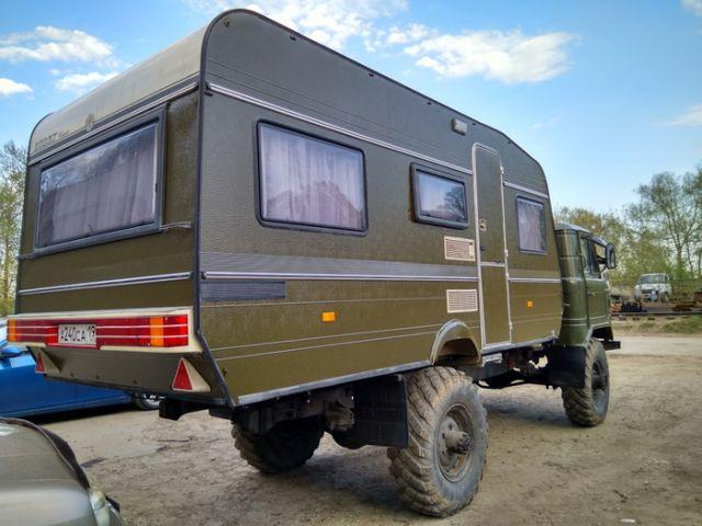 Вездеходный дом на колесах на базе ГАЗ-66 (15 фото)