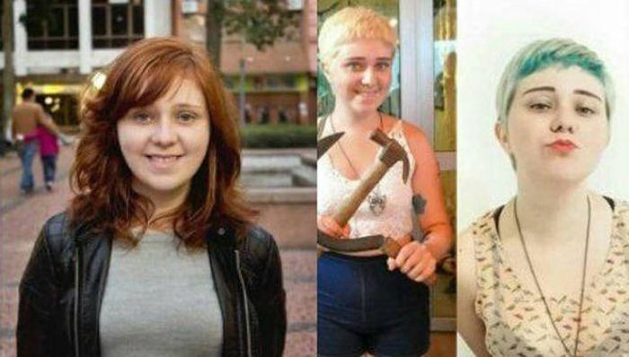 Как изменились девушки, проникшиеся идеями феминизма (30 фото)