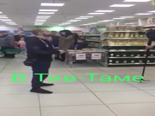 """Песня """"День Победы"""" в супермаркете Израиля"""