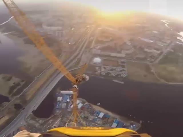 Вид на Санкт-Петербург с 462-метровой высоты