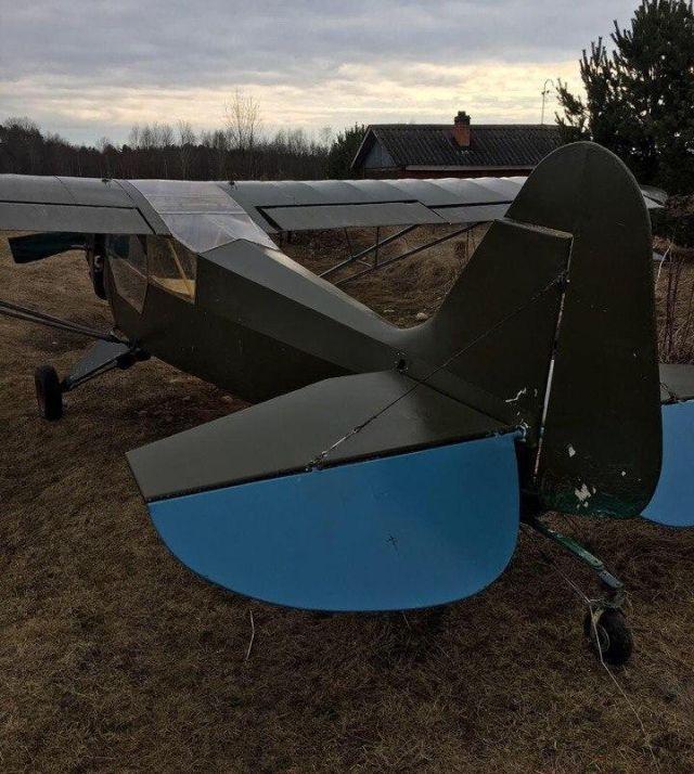 В Ленобласти разбился самодельный самолет (5 фото)