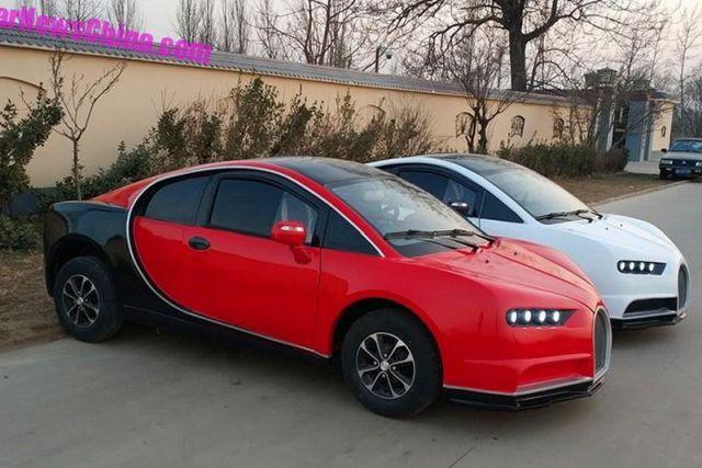 Китайцы выпустили недорогой электромобиль с дизайном Bugatti Chiron (6 фото)